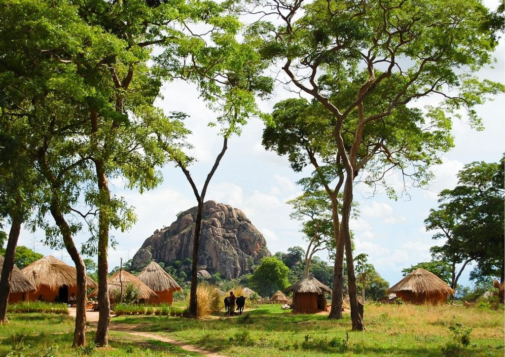 African traditional houses huts Zambia