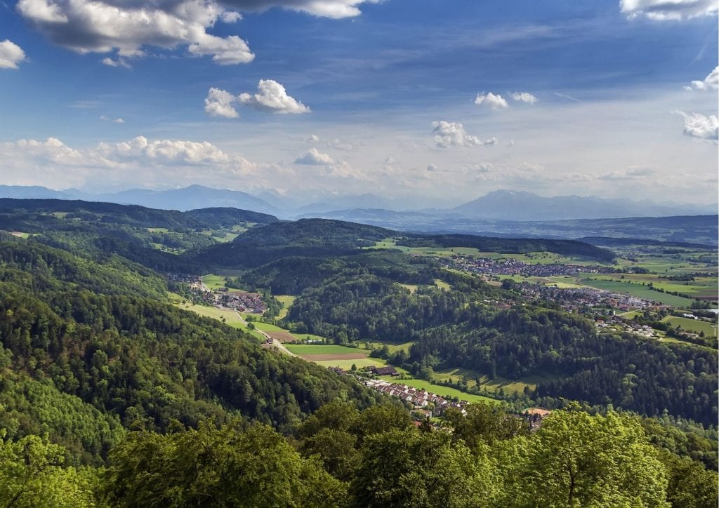 View from Uetliberg mountain Zurich