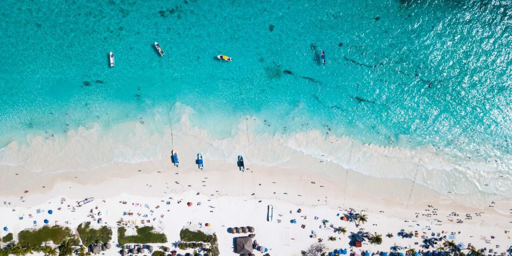 Tulum Beach Mexico View from above
